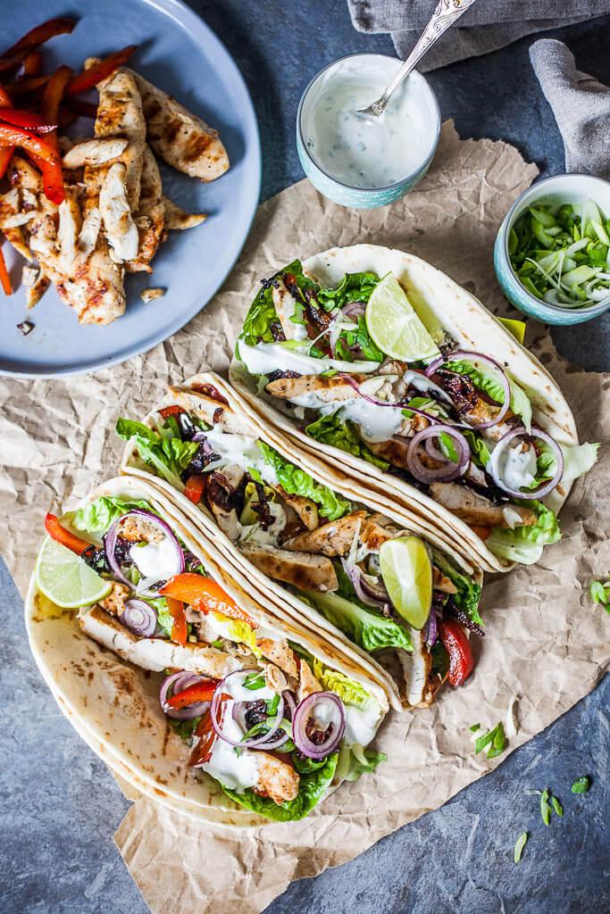 Grilled Chicken Tacos Recipe   HeyFood — heyfoodapp.com