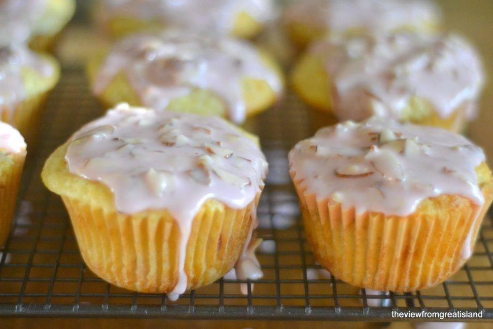 Ranier Cherry Almond Muffins Recipe | HeyFood — heyfoodapp.com