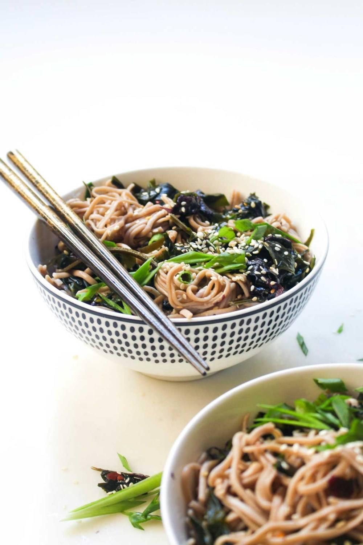 Seaweed Salad Soba Noodle Bowl Recipe   HeyFood — heyfoodapp.com