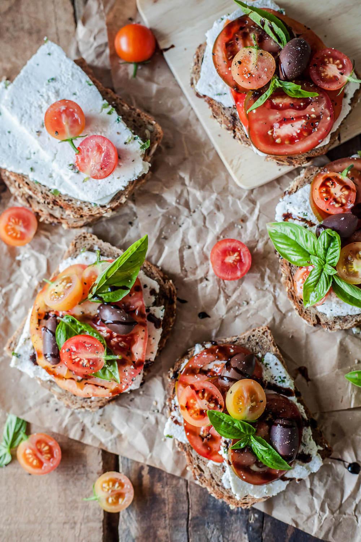 Tomato Wholewheat Sandwiches with Goat's Milk Ricotta Recipe | HeyFood — heyfoodapp.com