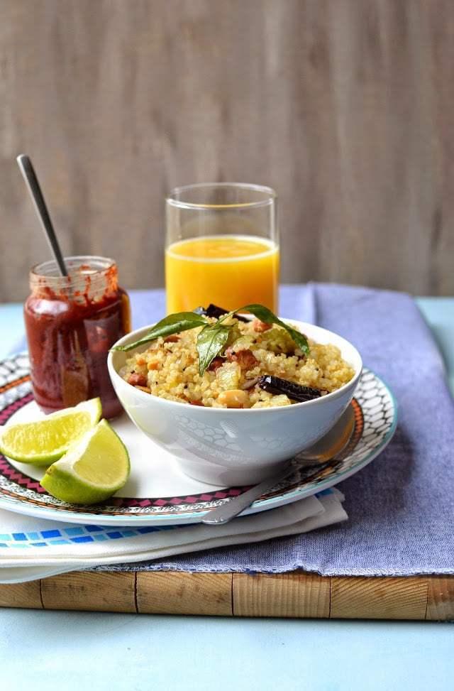 Quinoa khichdi with Peanuts (Sabudhana Khichdi Style) Recipe | HeyFood — heyfoodapp.com