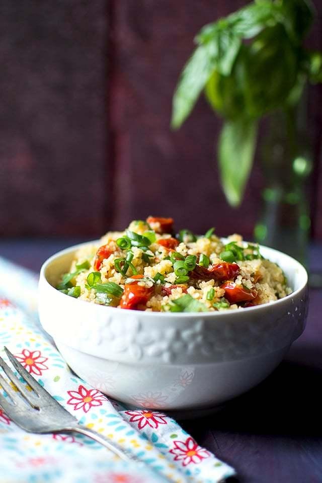 Roasted Tomato Tabbouleh Recipe   HeyFood — heyfoodapp.com