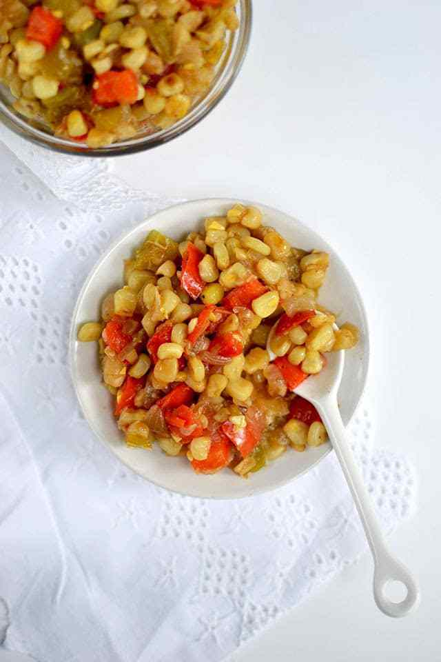 Corn and Pepper Relish Recipe | HeyFood — heyfoodapp.com
