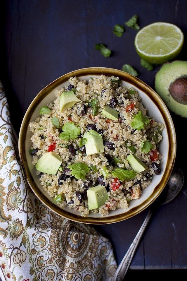 Quinoa Black bean Salad Recipe   HeyFood — heyfoodapp.com