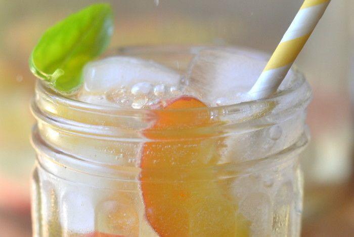 Summer Peach and Basil Sangria Recipe | HeyFood — heyfoodapp.com