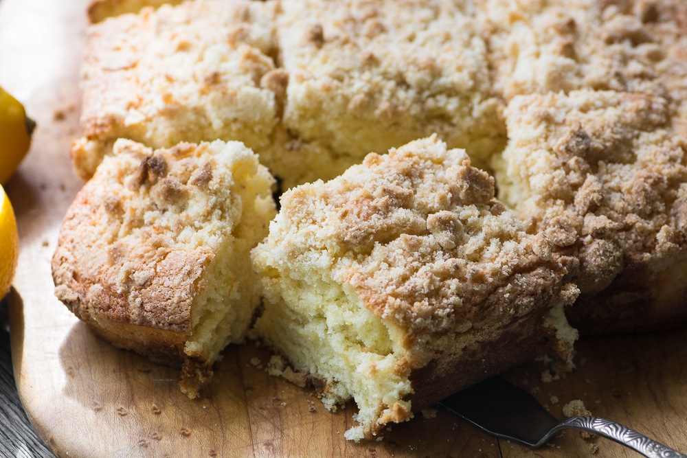 Lemon Sugar Crumb Cake Recipe | HeyFood — heyfoodapp.com