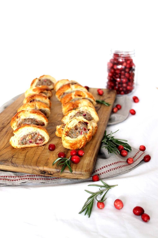 Cranberry & turkey sausage rolls Recipe   HeyFood — heyfoodapp.com