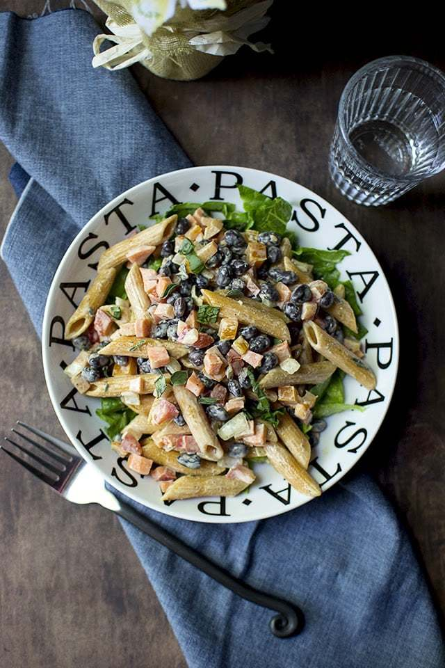 Pasta Salad with Black Beans Recipe | HeyFood — heyfoodapp.com