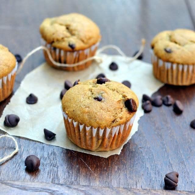 Whole wheat Banana Chocolate-Chip Muffins Recipe | HeyFood — heyfoodapp.com