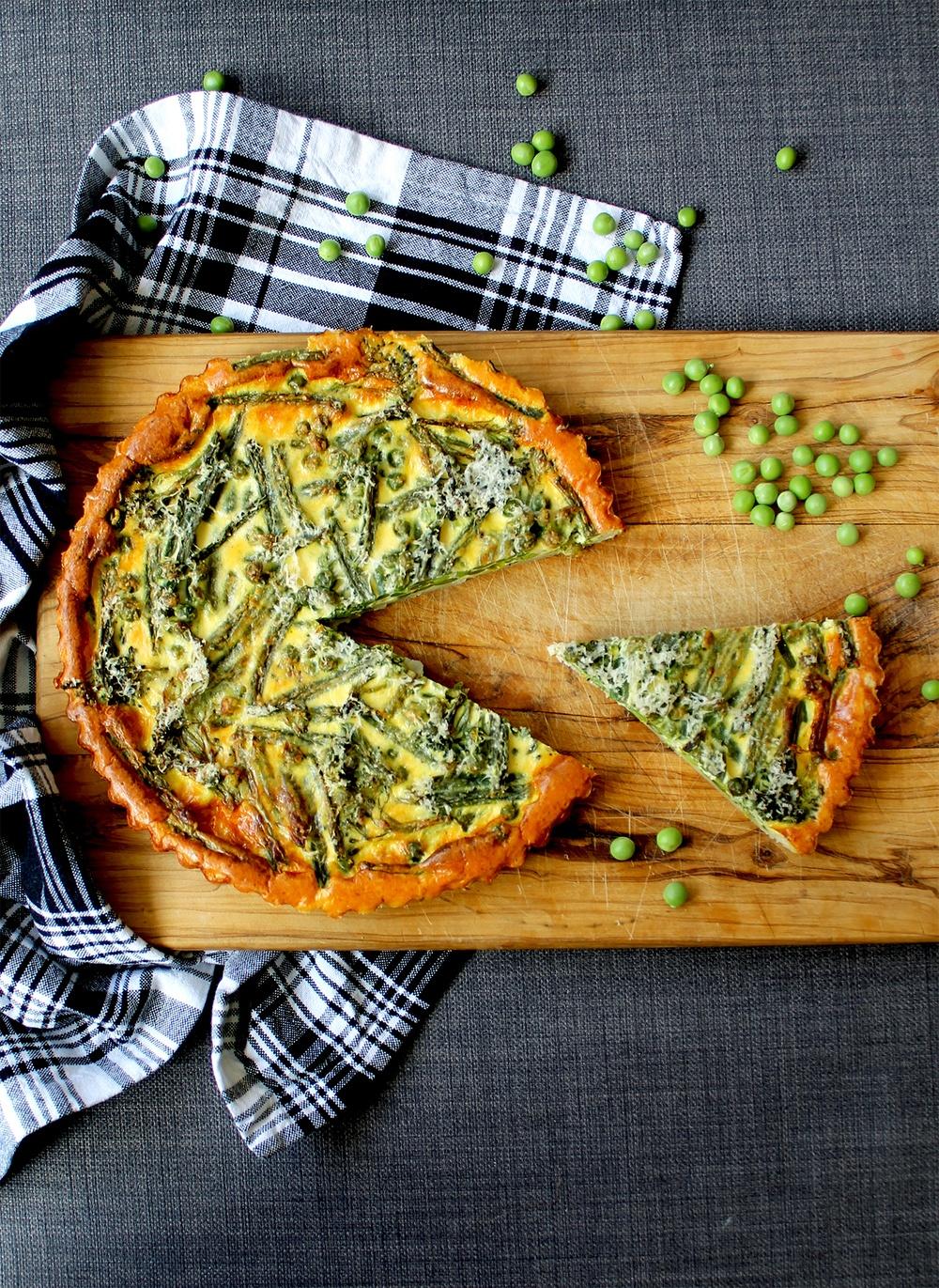 Spring vegetable quiche (V) Recipe | HeyFood — heyfoodapp.com
