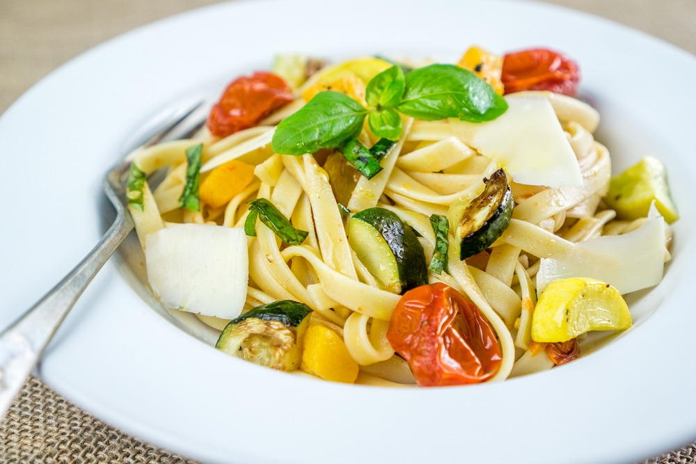 Roasted Vegetable Fettuccine Recipe | HeyFood — heyfoodapp.com