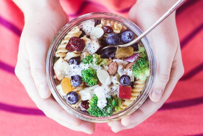 Blueberry Broccoli Pasta Salad Recipe | HeyFood — heyfoodapp.com