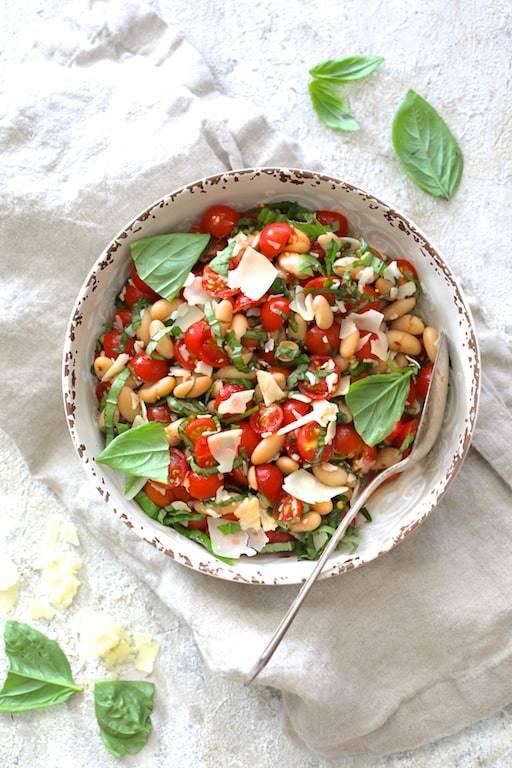 Tuscan Cherry Tomato and White Bean Salad Recipe | HeyFood — heyfoodapp.com