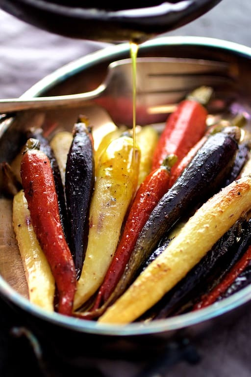 Curry Roasted Carrots with Honey Browned Butter Recipe | HeyFood — heyfoodapp.com