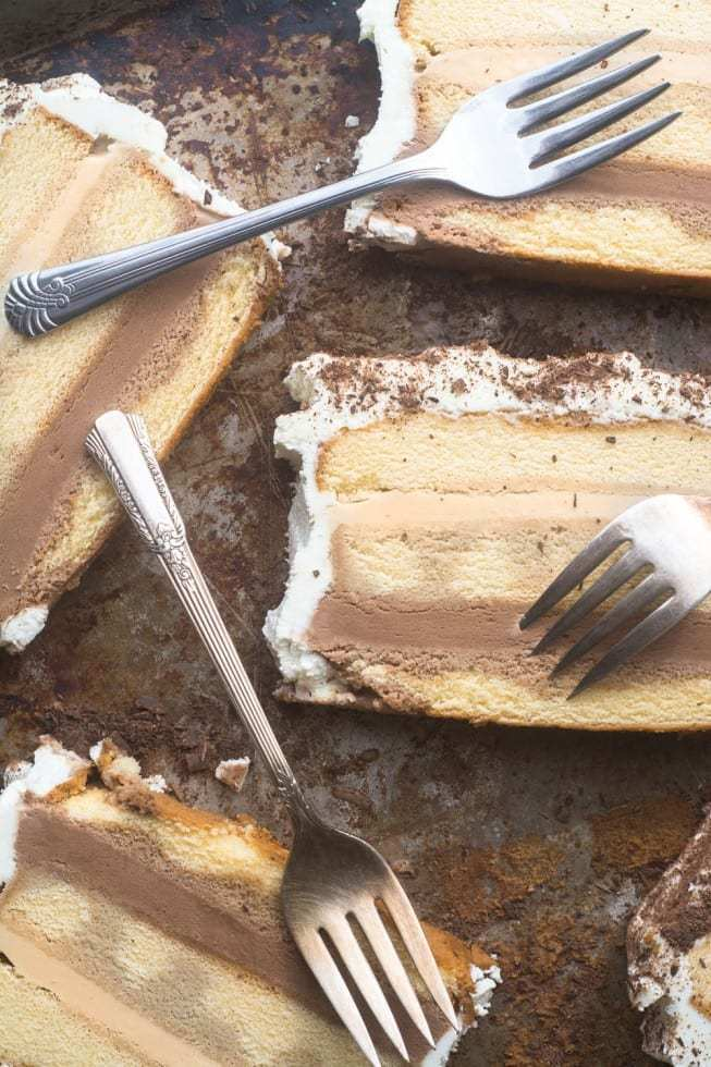 Tiramisu Ice Cream Cake Recipe | HeyFood — heyfoodapp.com
