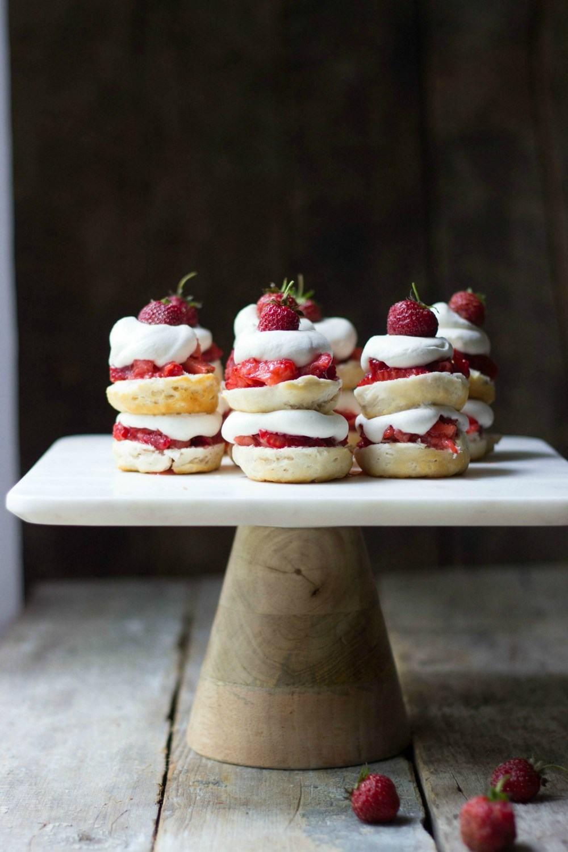 Mini Strawberry Shortcake Stacks Recipe | HeyFood — heyfoodapp.com