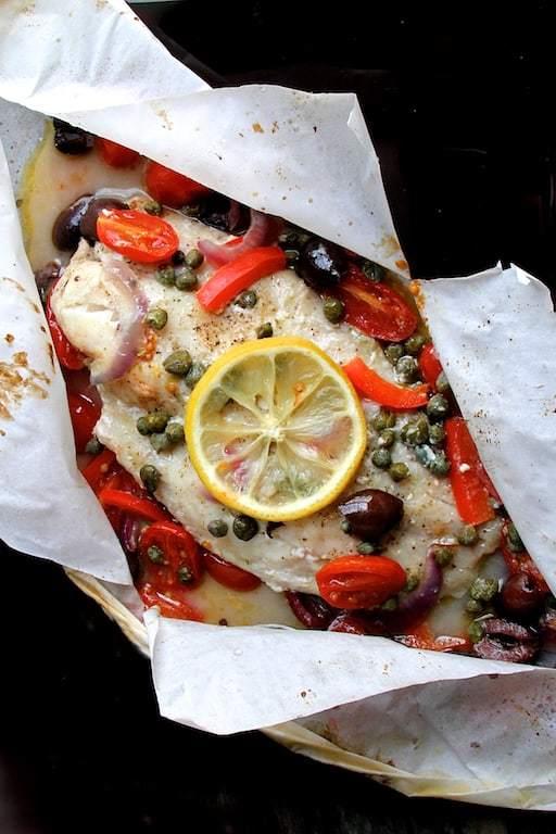 Mediterranean Fish en Papillote Recipe | HeyFood — heyfoodapp.com