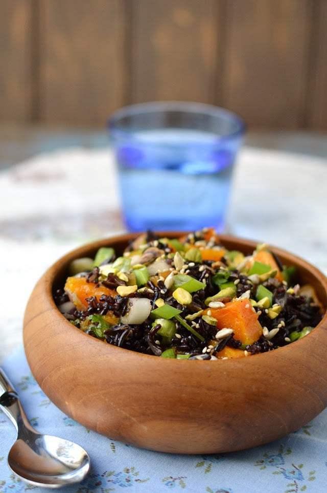 Black & Wild Rice Salad with Roasted Butternut Squash Recipe | HeyFood — heyfoodapp.com