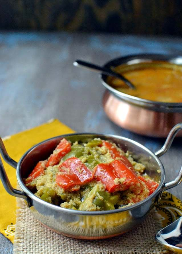 Capsicum Coconut Masala Curry (Peppers in Spicy Coconut Gravy) Recipe | HeyFood — heyfoodapp.com