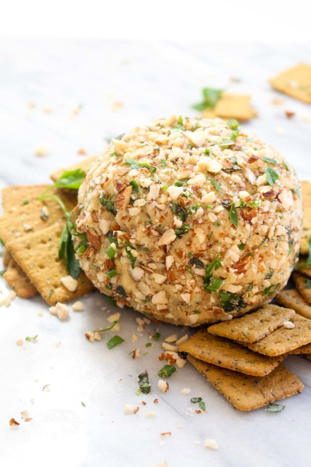 Vegan Cheese Ball with Herbs Recipe | HeyFood — heyfoodapp.com