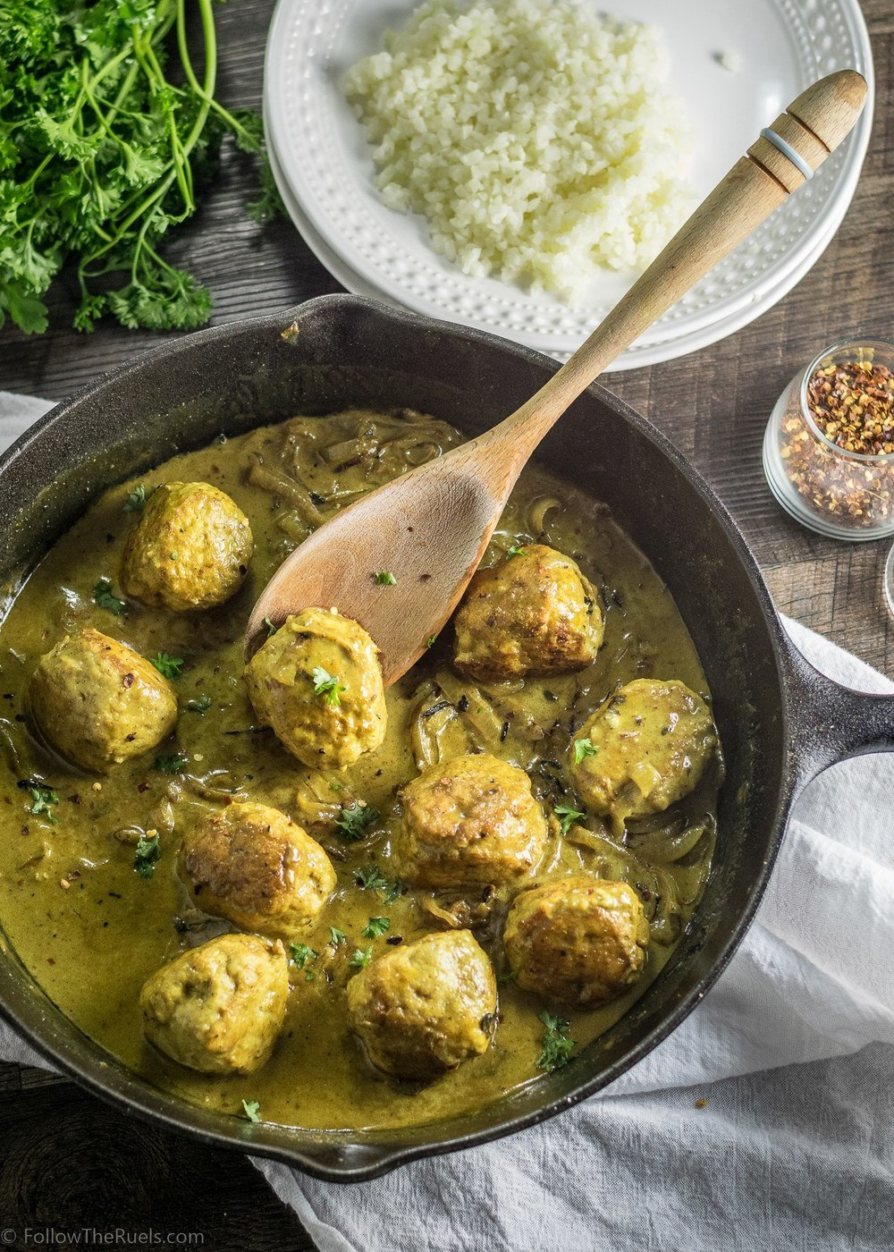 Yellow Curry Chicken Meatballs Recipe | HeyFood — heyfoodapp.com