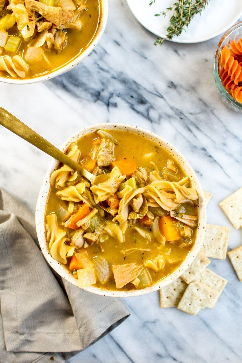 Jackfruit Chicken Noodle Soup Recipe | HeyFood — heyfoodapp.com