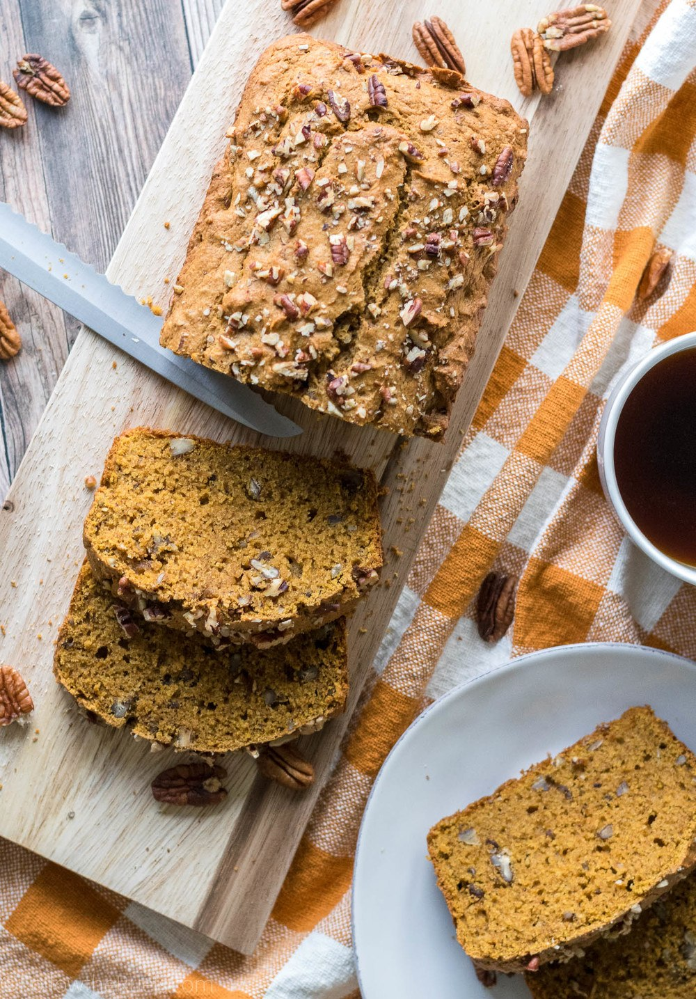 Maple Pecan Pumpkin Bread Recipe   HeyFood — heyfoodapp.com