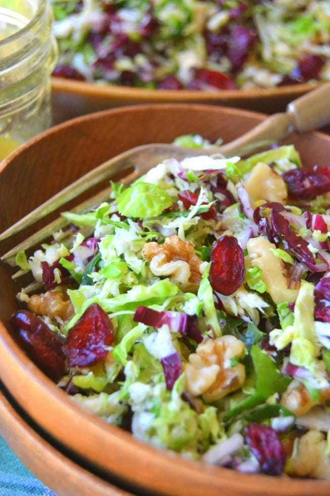 Brussels Sprout Slaw with Maple Cider Vinaigrette Recipe | HeyFood — heyfoodapp.com