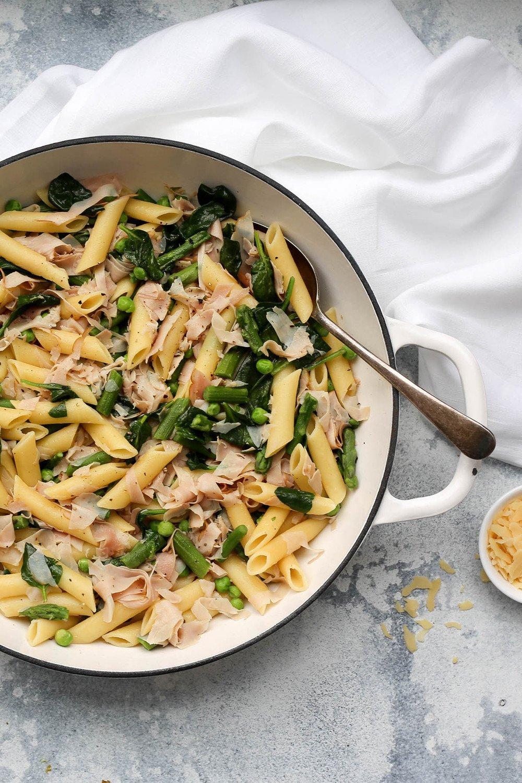 Ham and Asparagus Pasta Recipe | HeyFood — heyfoodapp.com