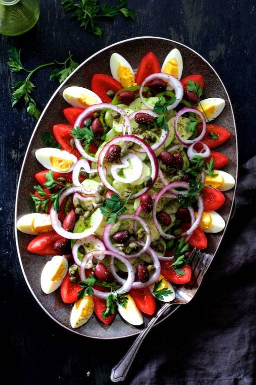 Tunisian Salad Platter or Assiette Tunisienne Recipe | HeyFood — heyfoodapp.com