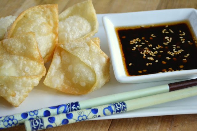 Crispy Goat Cheese Wontons with Chili Dipping Sauce Recipe | HeyFood — heyfoodapp.com