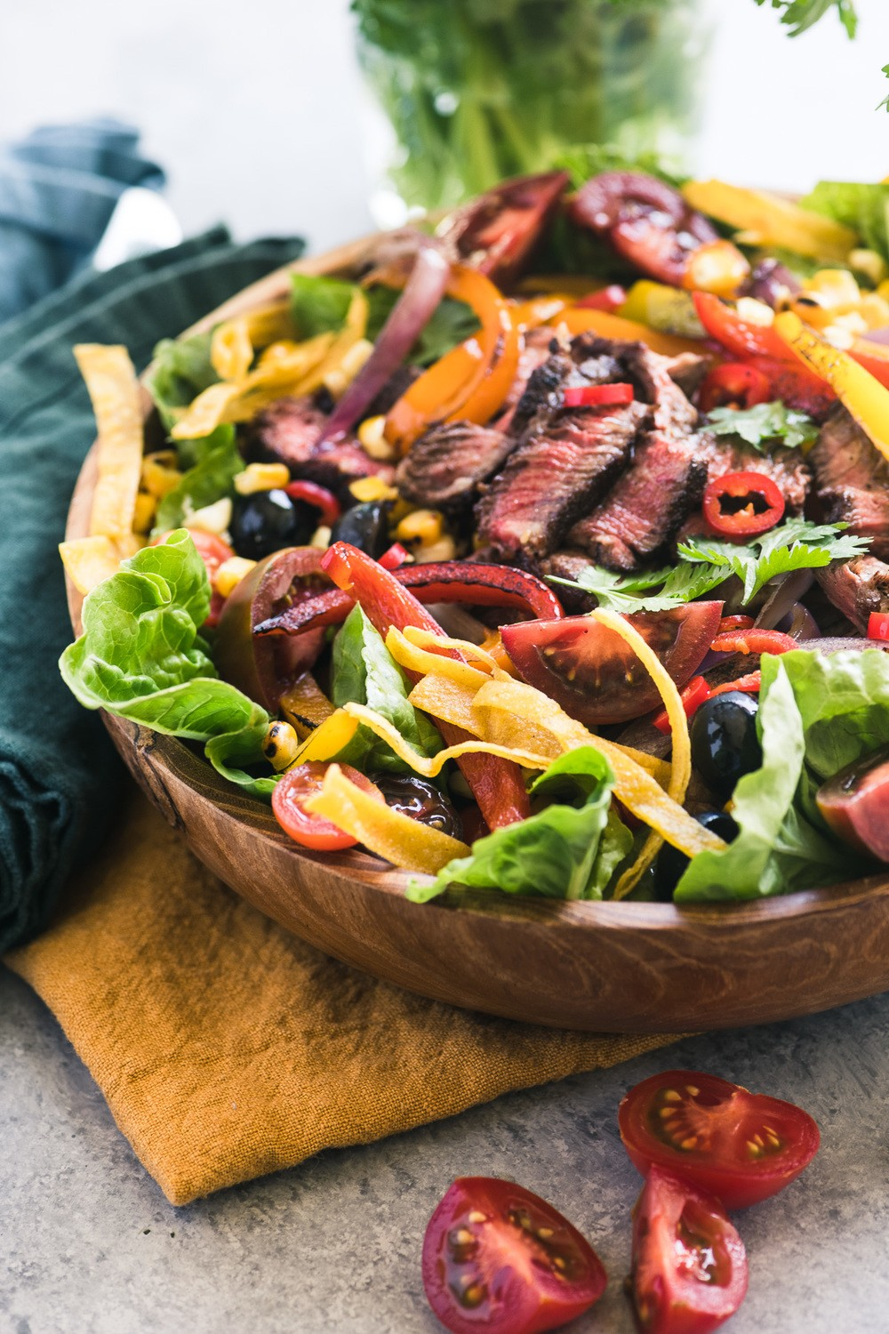Mexican Fajita Steak Salad Recipe | HeyFood — heyfoodapp.com