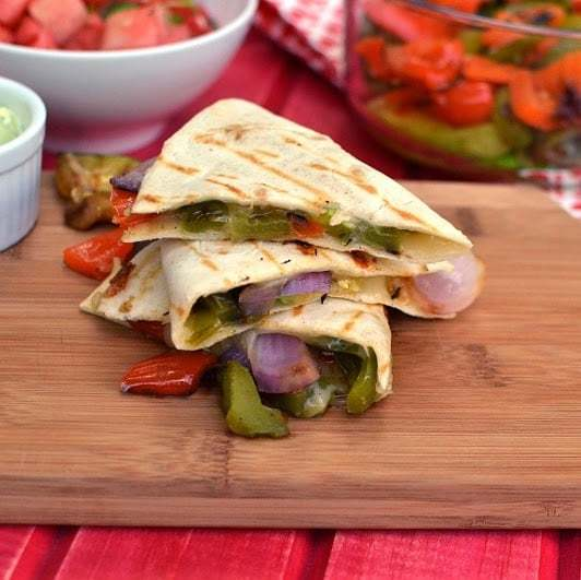Grilled Vegetable Quesadilla Recipe | HeyFood — heyfoodapp.com