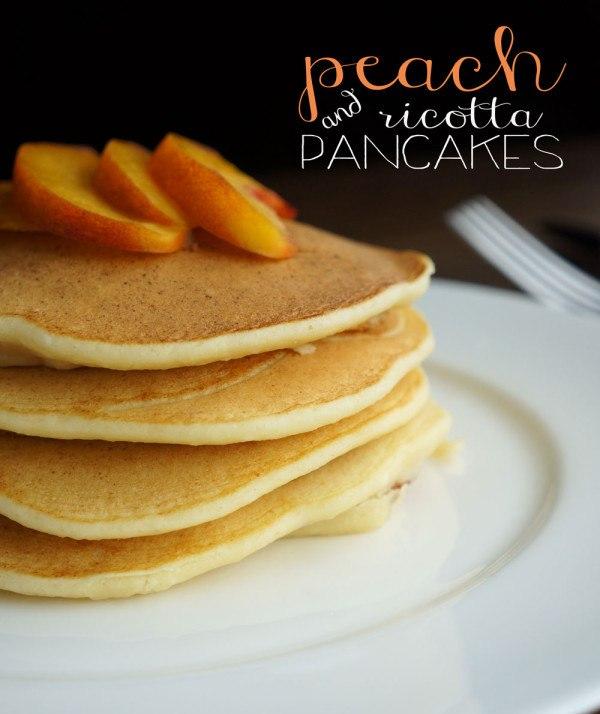 Peach Ricotta Pancakes Recipe | HeyFood — heyfoodapp.com