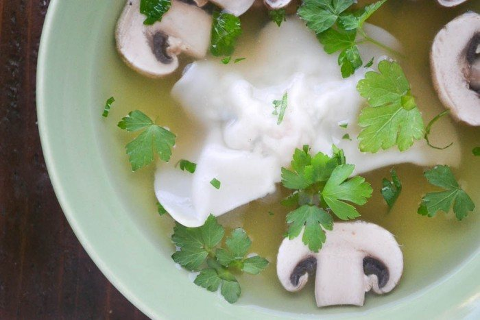 Miso Broth with Shrimp Dumplings Recipe | HeyFood — heyfoodapp.com