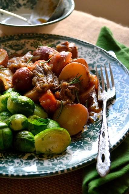 Irish Whiskey Short Rib Stew with Brussels Sprouts Recipe | HeyFood — heyfoodapp.com