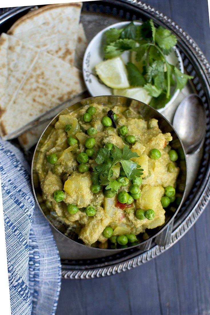 Vegan Aloo Matar Kurma (Potato-Peas Kurma) Recipe | HeyFood — heyfoodapp.com