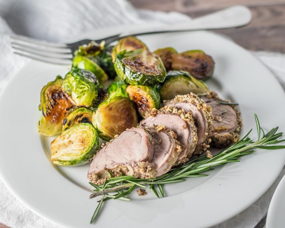 Pecan and Herb Crusted Pork Recipe | HeyFood — heyfoodapp.com