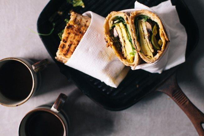 Spicy Egg and Mushroom Wrap (aka. The Hangover Cure) Recipe | HeyFood — heyfoodapp.com