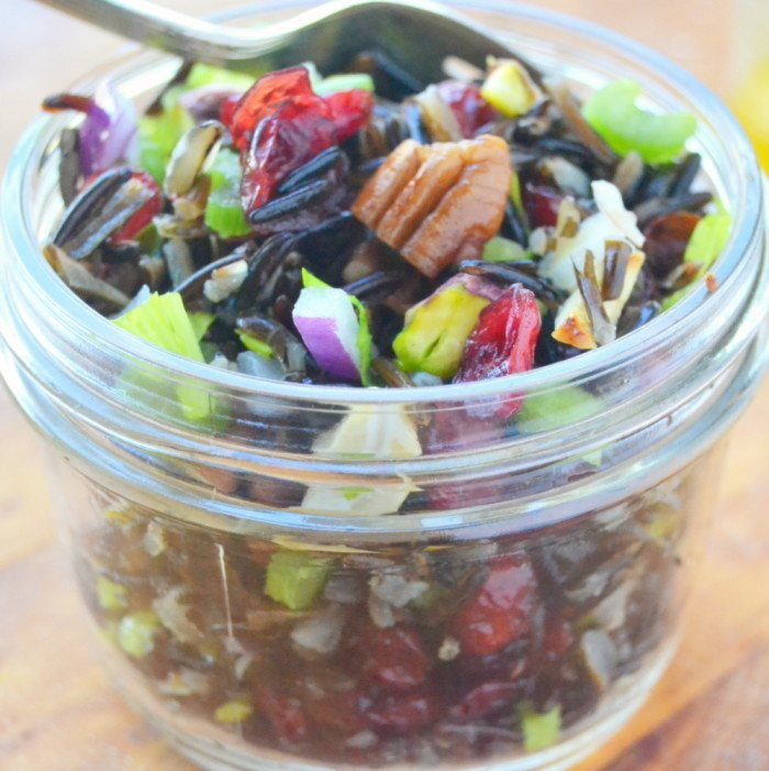Wild Rice Salad with Cranberries and Nuts Recipe | HeyFood — heyfoodapp.com