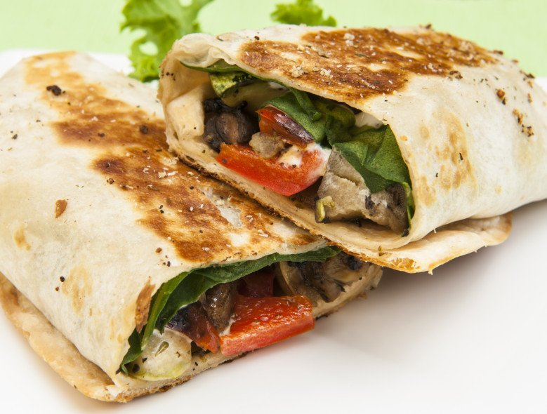 Grilled Veggie Wrap Recipe | HeyFood — heyfoodapp.com