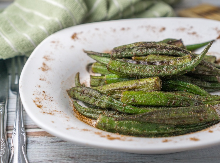 Roasted Cajun Okra Recipe | HeyFood — heyfoodapp.com