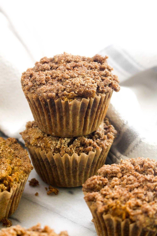 Spiced Pumpkin Crumb Muffins Recipe | HeyFood — heyfoodapp.com