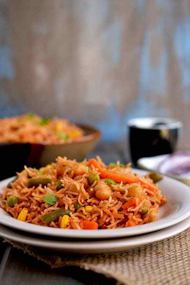 Vegetable Makhani Rice Recipe | HeyFood — heyfoodapp.com