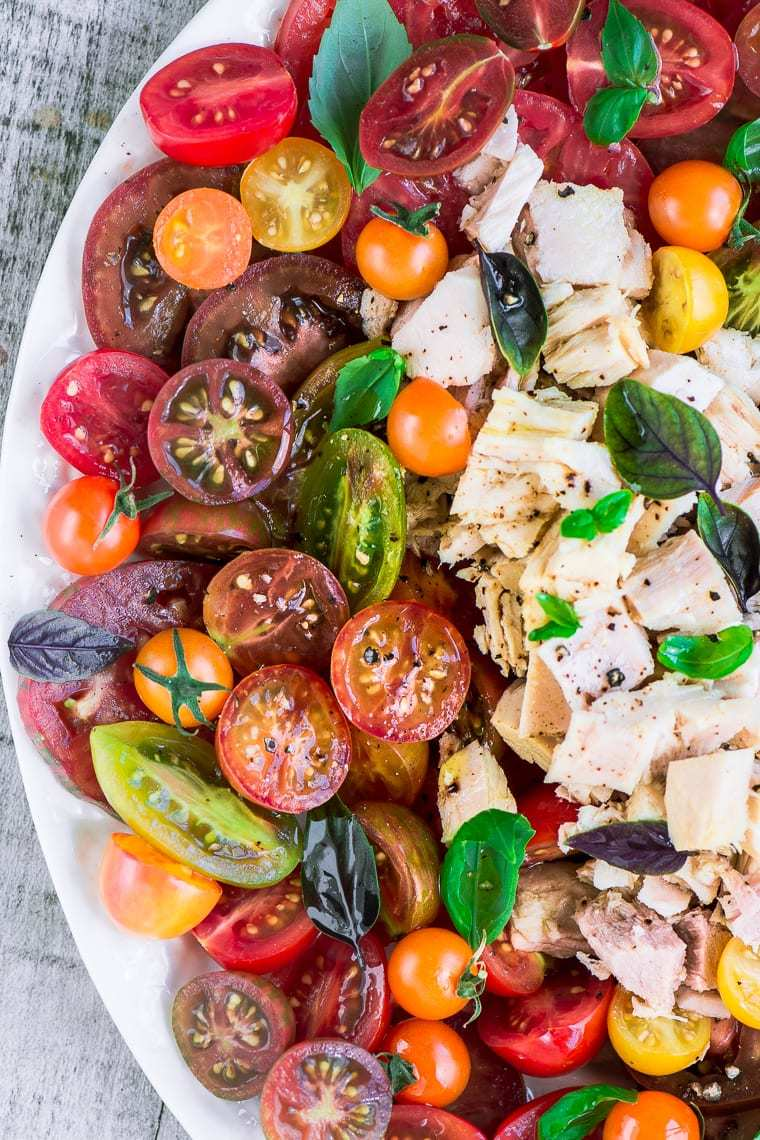 Summer Tomato and Tuna Salad Recipe | HeyFood — heyfoodapp.com
