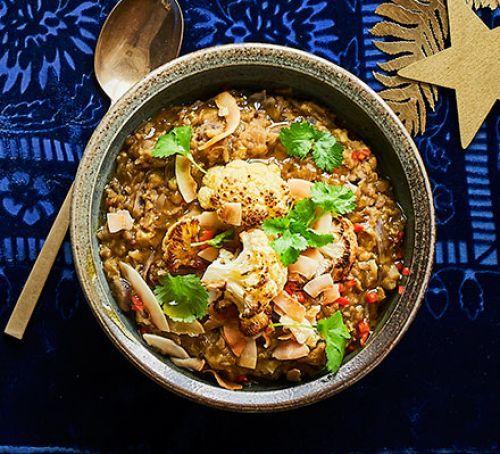 Red Cabbage, Cauliflower & Coconut Dhal Recipe | HeyFood — heyfoodapp.com
