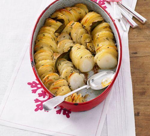 Hasselback Potato Gratin Recipe | HeyFood — heyfoodapp.com