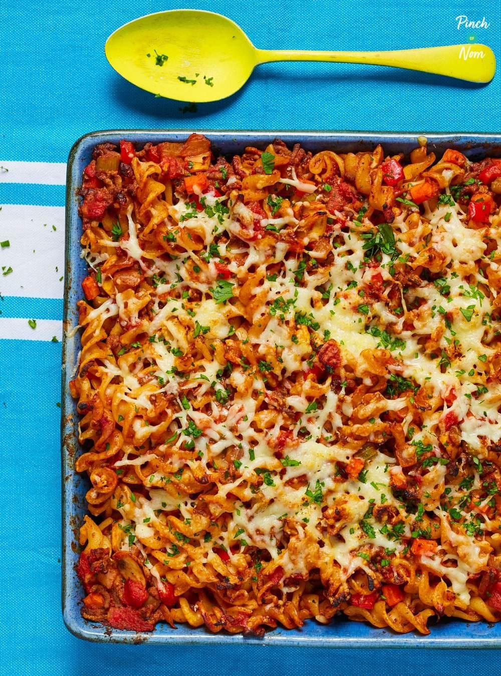 Pasta Bolognese Bake | Slimming & Weight Watchers Friendly Recipe | HeyFood — heyfoodapp.com