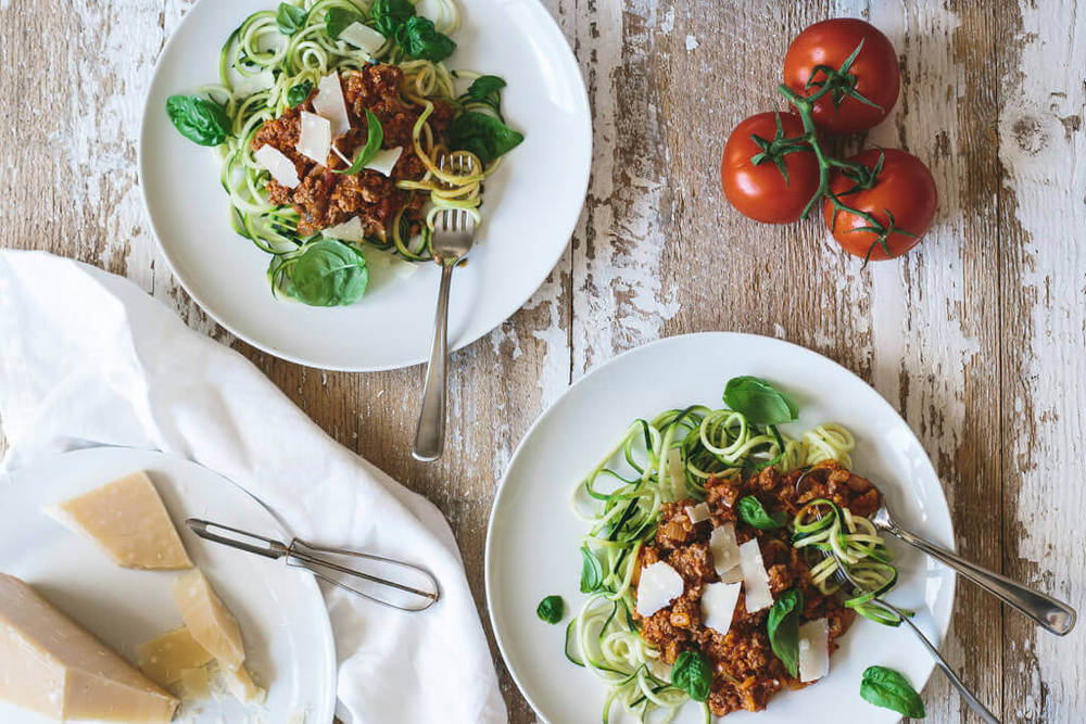 Zucchini Noodle Bolognese Recipe | HeyFood — heyfoodapp.com