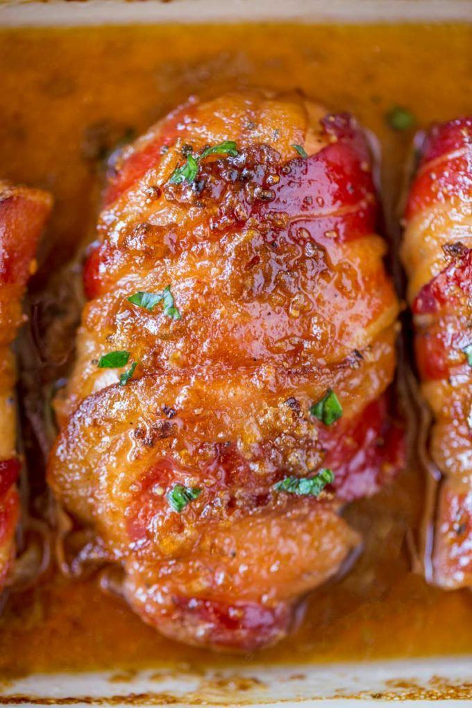 Bacon Brown Sugar Garlic Chicken Recipe | HeyFood — heyfoodapp.com